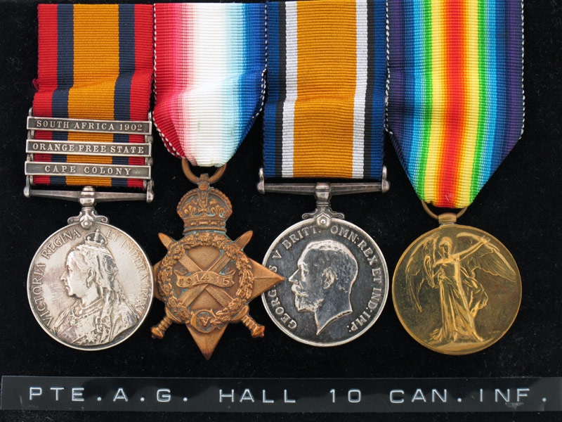 eMedals-Four, A.G.Hall, 10TH Can. Inf