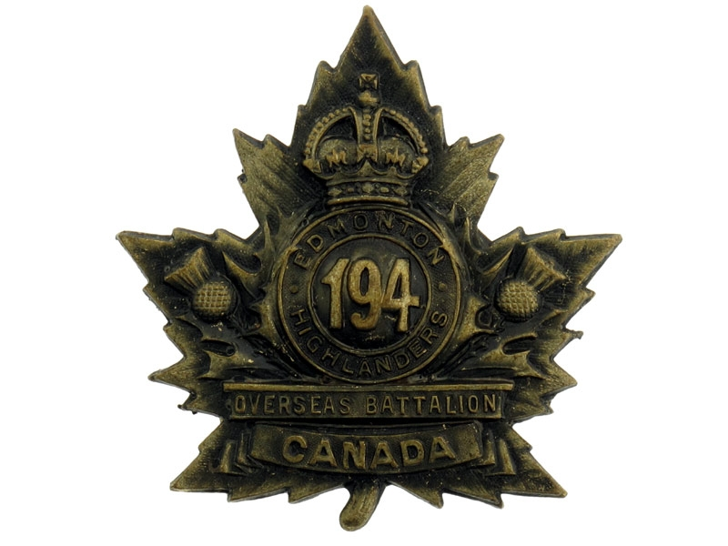 eMedals-194th Infantry Battalion Cap Badge