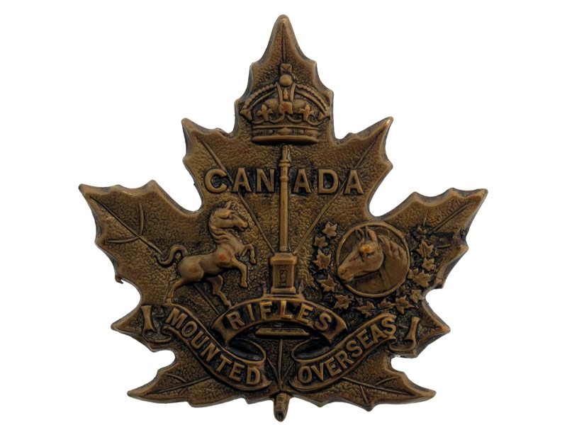 eMedals-Canadian Mounted Rifle Draft Cap Badge