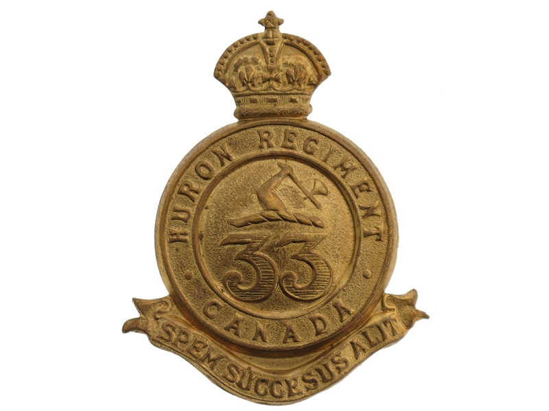 eMedals-33rd Huron Regiment Cap Badge, c. 1904.