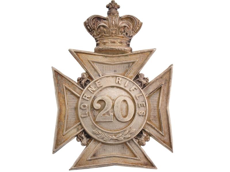 eMedals-20th Halton Battalion, Lorne Rifles