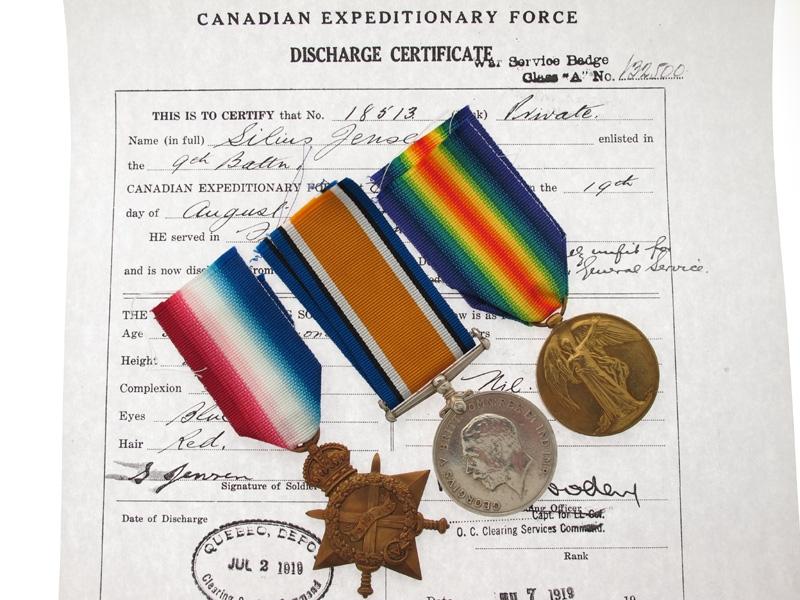 eMedals-WWI Trio - Danish Canadian - 1st Division CEF