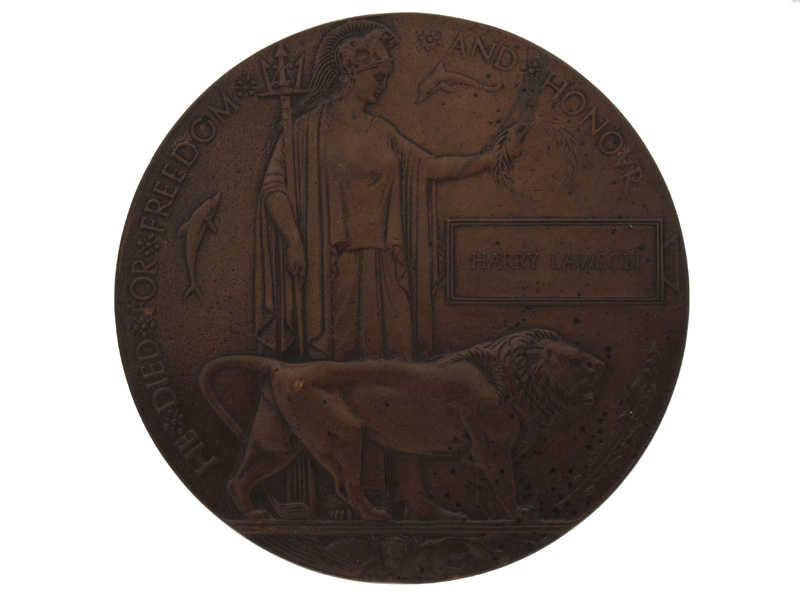 eMedals-Great War Memorial Plaque Harry Lawson