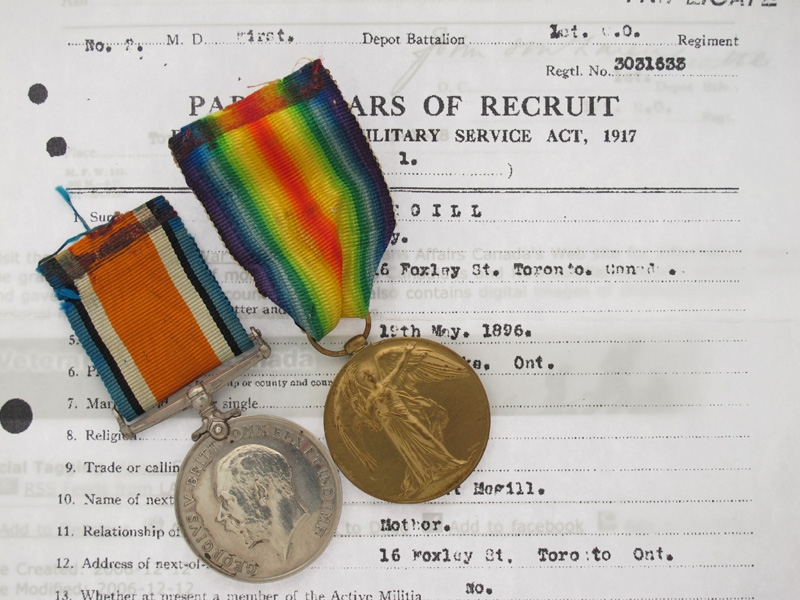 eMedals-WWI Pair. Private Roy Megill - 15th Infantry