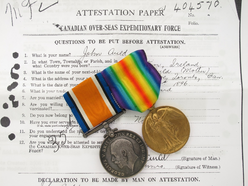 eMedals-WWI Pair. A. Cpl. John Auld - CMC Brigade