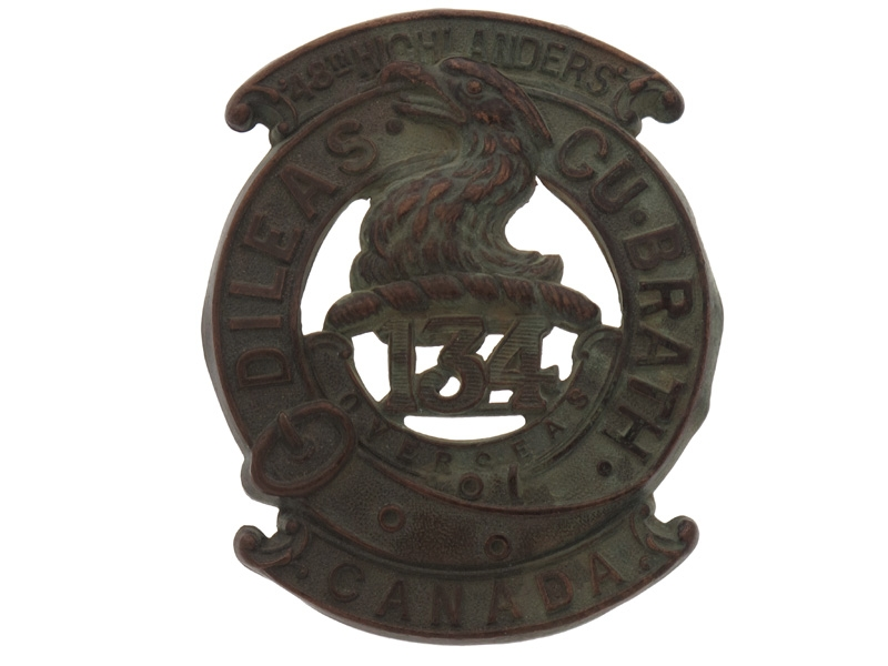 "eMedals-WWI 134th Battalion ""48th Highlanders"" Badge"