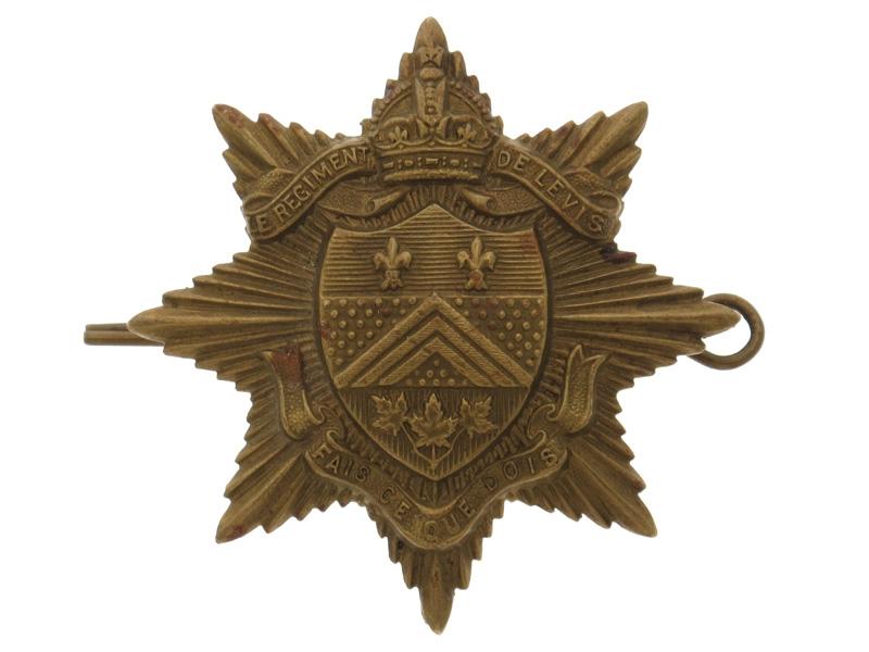 eMedals-WWII Regiment de Levis (Levis, OC) Cap Badge