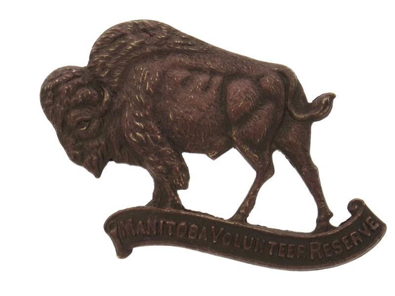 eMedals-WWII Manitoba Volunteer Reserve Cap Badge. Rare.