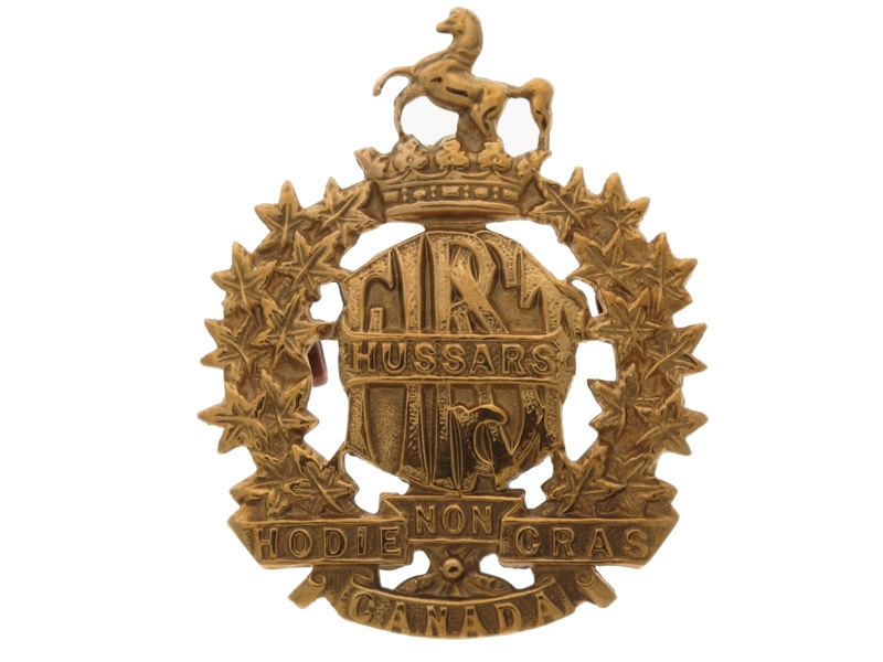 eMedals-WWI 1st Hussars Canadian Light Horse Cap Badge