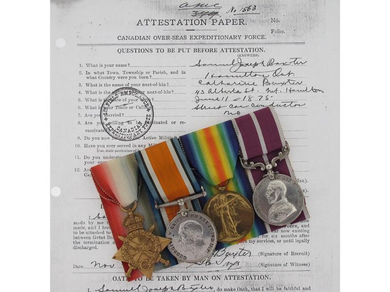 eMedals-WWI M.S.M. Group - Sgt. S.J. Baxter, CAMC