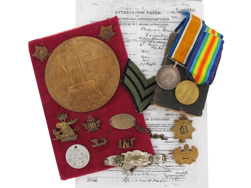 eMedals-WWI Memorial Collection. Pte. Burdett, 58th Batt.