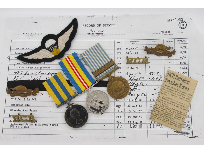 eMedals-Korean War Group, P.J. Metallic, RCR