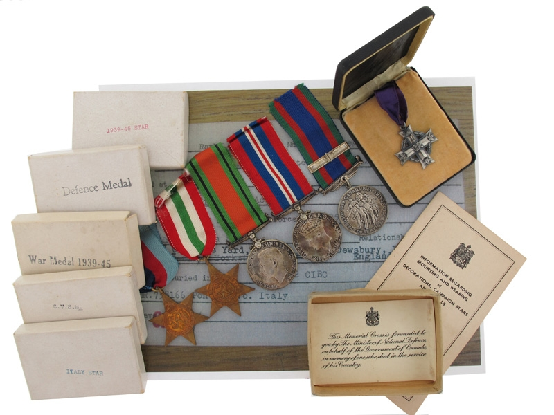 eMedals-Memorial Cross Group - L/Cpl Shaw - Monte Cassino