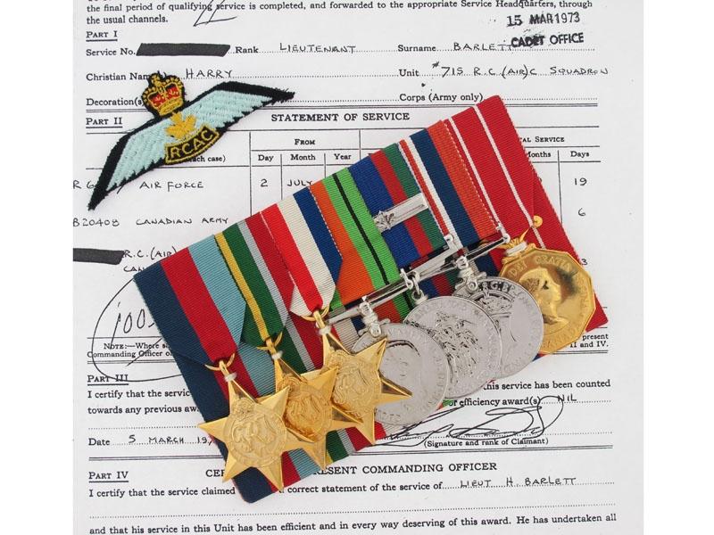 eMedals-Canadian Forces Decoration Group - Lt. Barlett