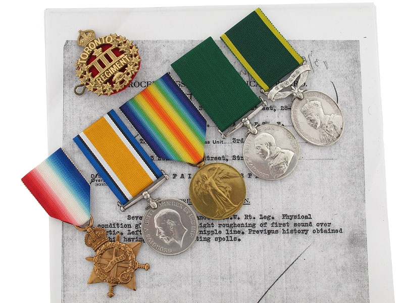 eMedals-The Awards of Sgt.Haines - 3rd Canadian Infantry