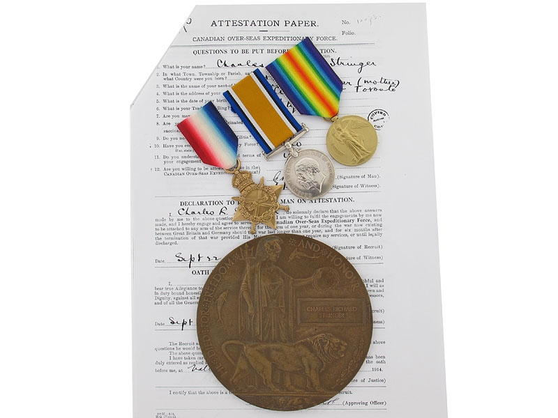 eMedals-Missing at Ypres - Pte.Stringer, 3rd Can Infantry