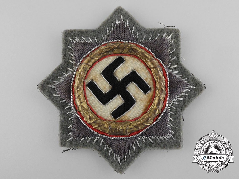eMedals-Germany. An Wehrmacht German Cross in Gold, Cloth Version