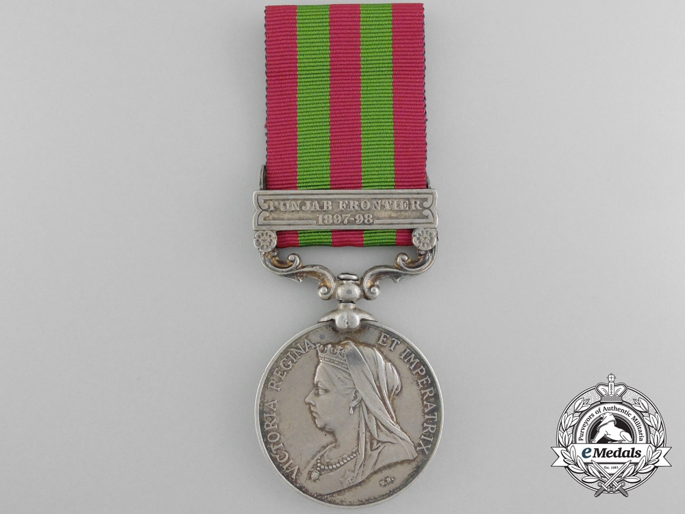 eMedals-A 1896 India Medal to the 2nd Highland Light Infantry