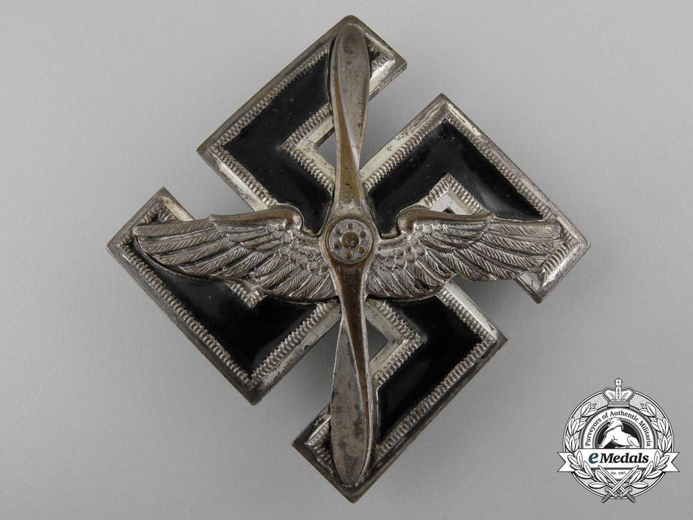 eMedals-Germany, DLV. A Rare SA/SS/DLV Flieger Pilot's Badge, by Wurster Mark. Neukirchen