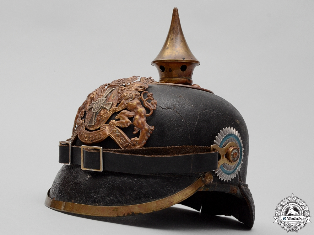 eMedals-A Bavarian Infantry Regiments and Pioneer Battalions Enlisted Man's Pickelhaube