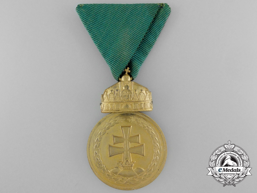 eMedals-Hungary, Kingdom. A Rare Gold Grade Signum Laudis Medal, c.1925