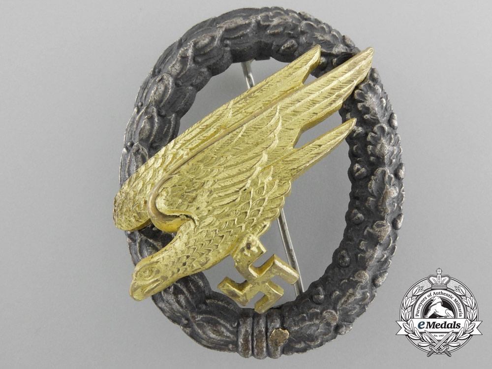 eMedals-A Luftwaffe Fallschirmjäger Badge by Friedrich Linden, Lüdenscheid