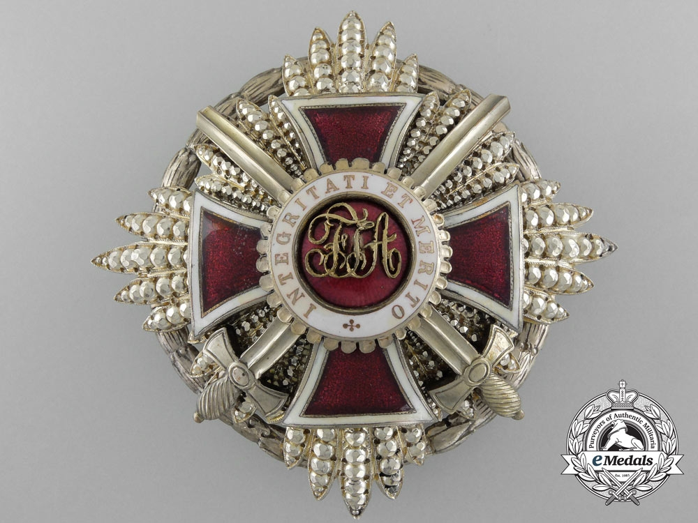 eMedals-Austria, Imperial. An Order of Leopold, First Class Star with KD & Swords, c.1930