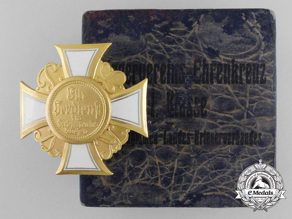 eMedals-A Mint German War Veteran's Honor Cross; 1st Class with Box