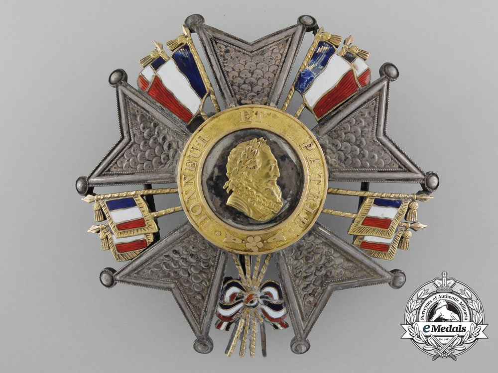 eMedals-A French Legion D'Honneur; Grand Officer's Breast Star; King Louis-Philippe (1830-1848)