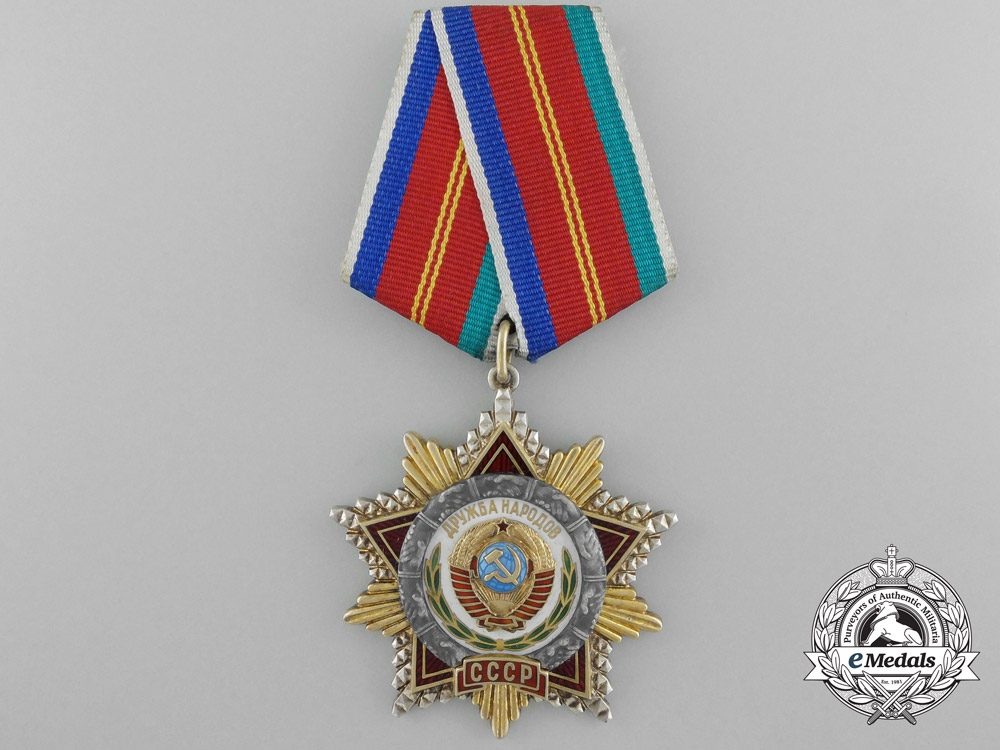 eMedals-A Soviet Russian Order of Friendship of Peoples
