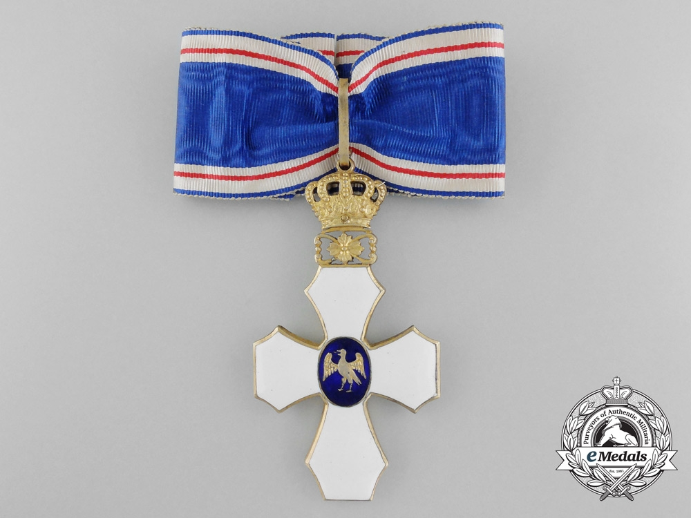 eMedals-Iceland. An Order of the Falcon, Type I with Royal Crown, c.1930