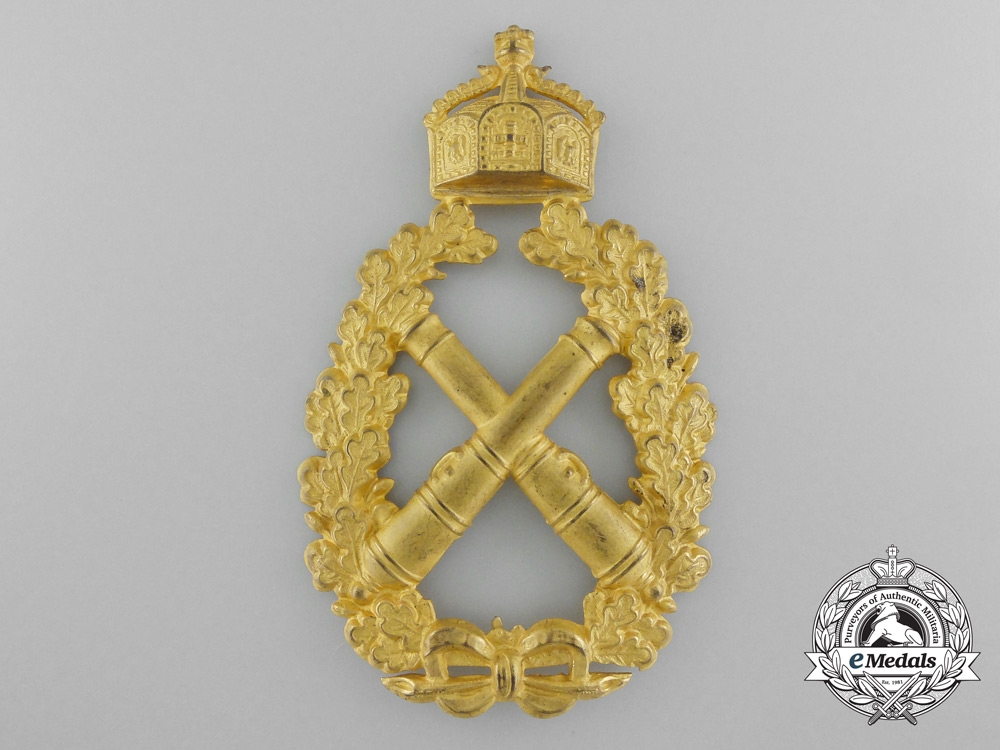 eMedals-An Imperial German Sleeve Shield; Proficient Artillery Shooting