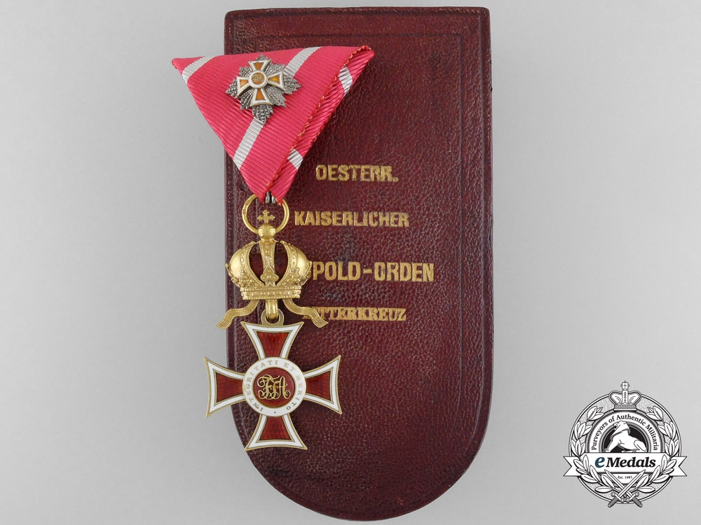 eMedals-An Austrian Order of Leopold in Gold by Rothe with Miniature GC Star