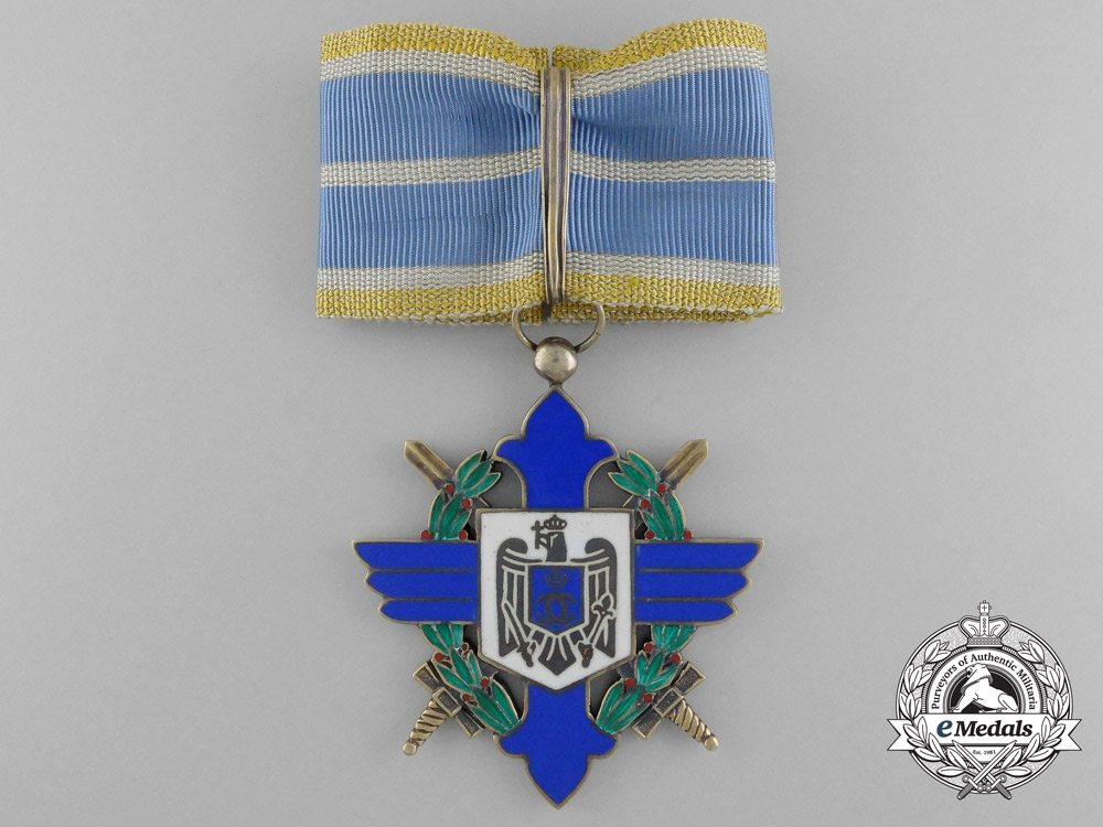 eMedals-Romania, Kingdom. An Order of Aeronautical Virtues, Commander's Cross, c.1944