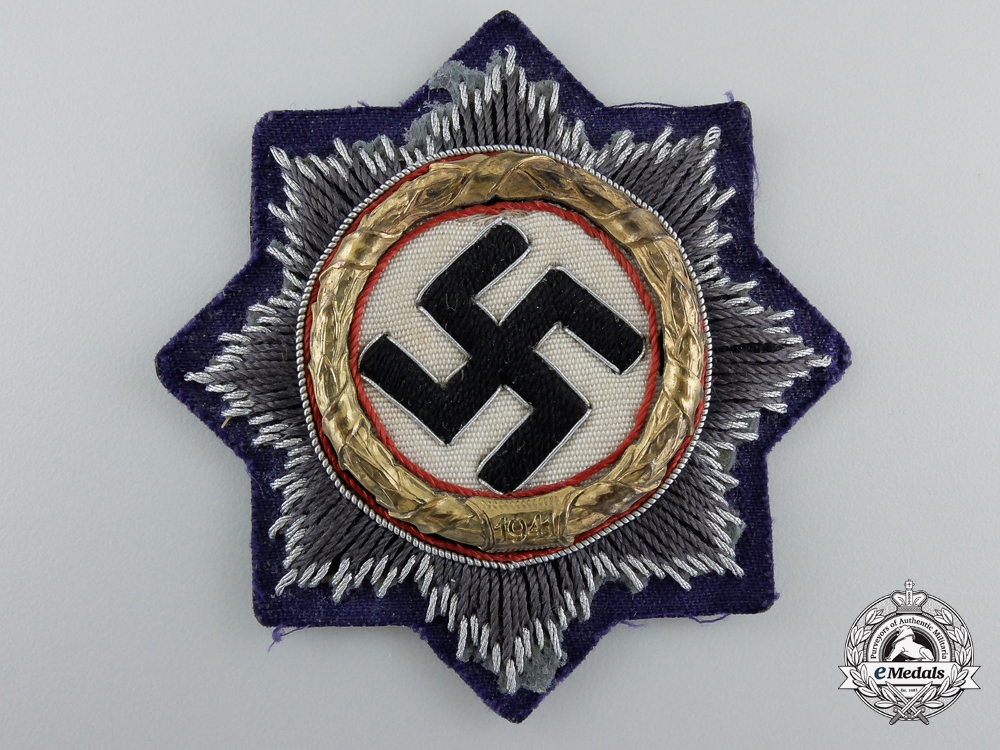 eMedals-A Luftwaffe Issue German Cross in Gold; Cloth Version