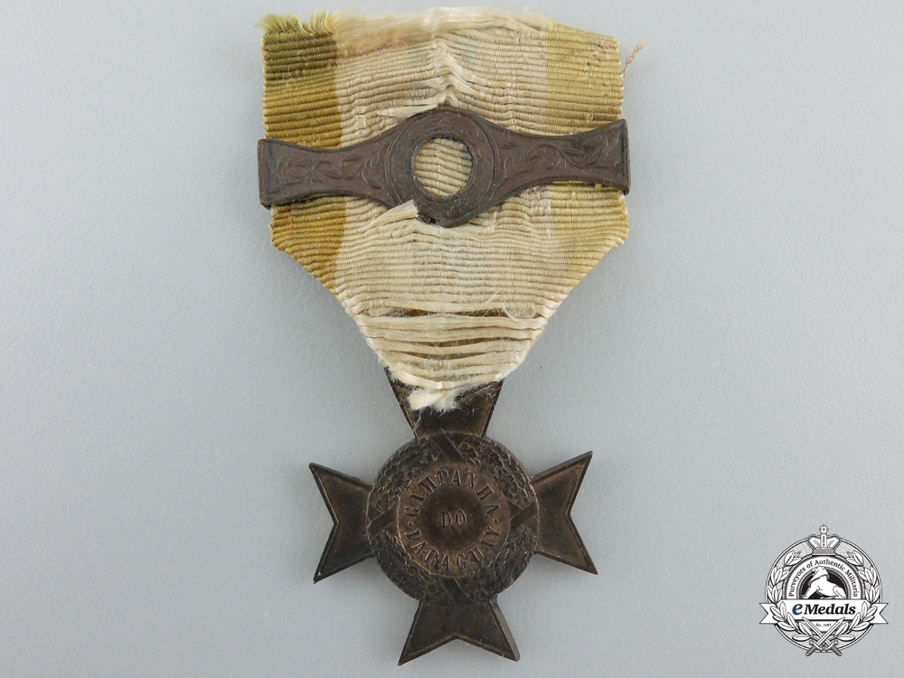 eMedals-Brazil, Republic. A Paraguay Cross with Bar, c.1870