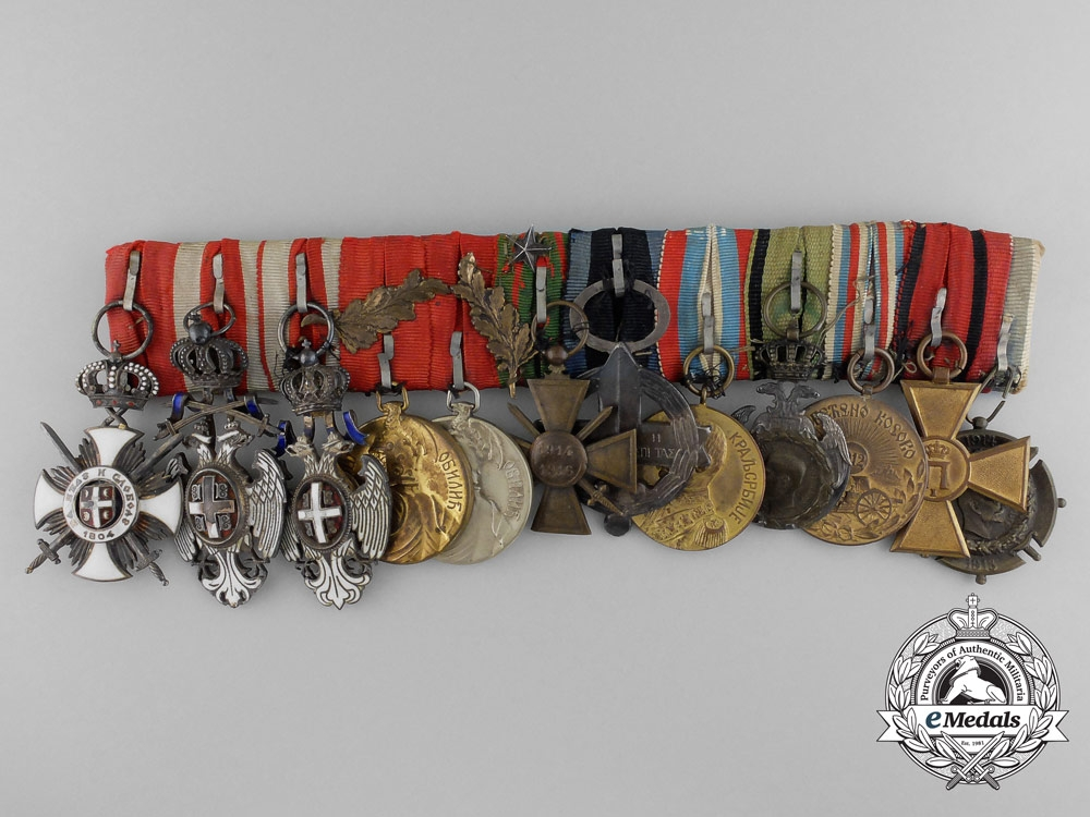 eMedals-A Fine & Unusual Serbian First War Officer's Group of Twelve