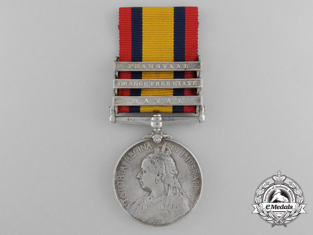 eMedals-A Queen's South Africa Medal to the Royal West Surrey Regiment; Imprisoned