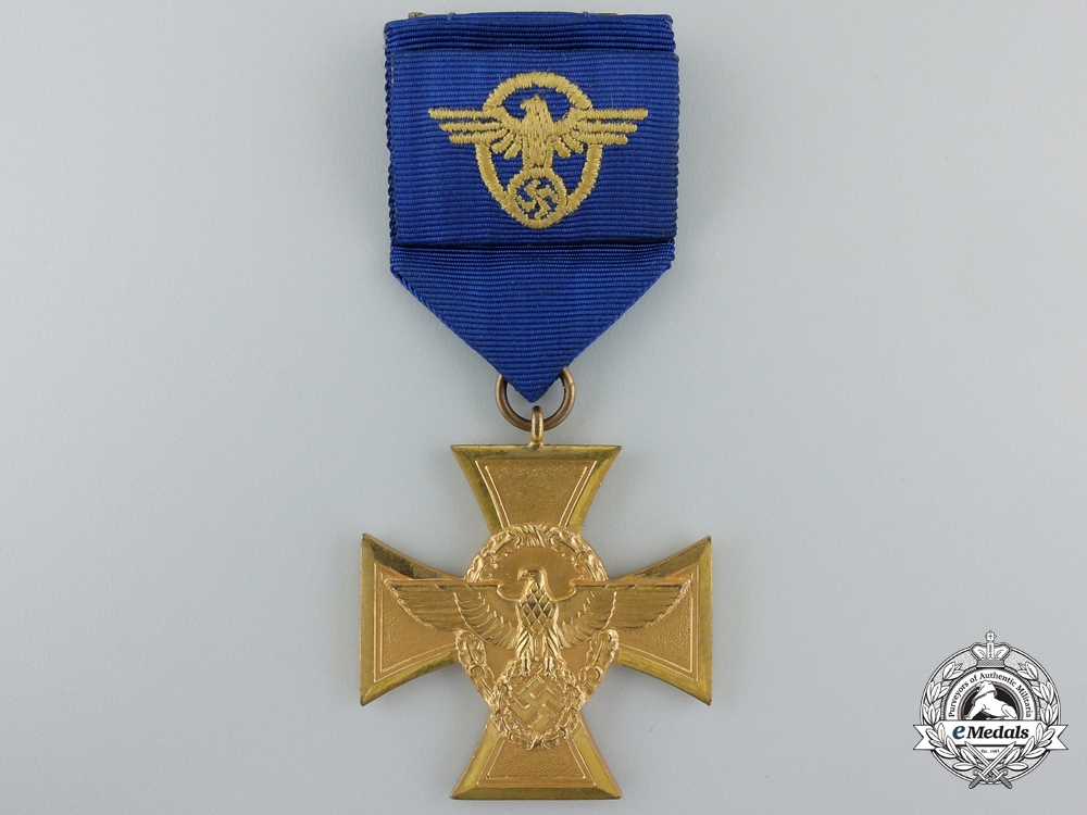 eMedals-A German Police Long Service Cross; 1st Class for Twenty-Five Years' Service