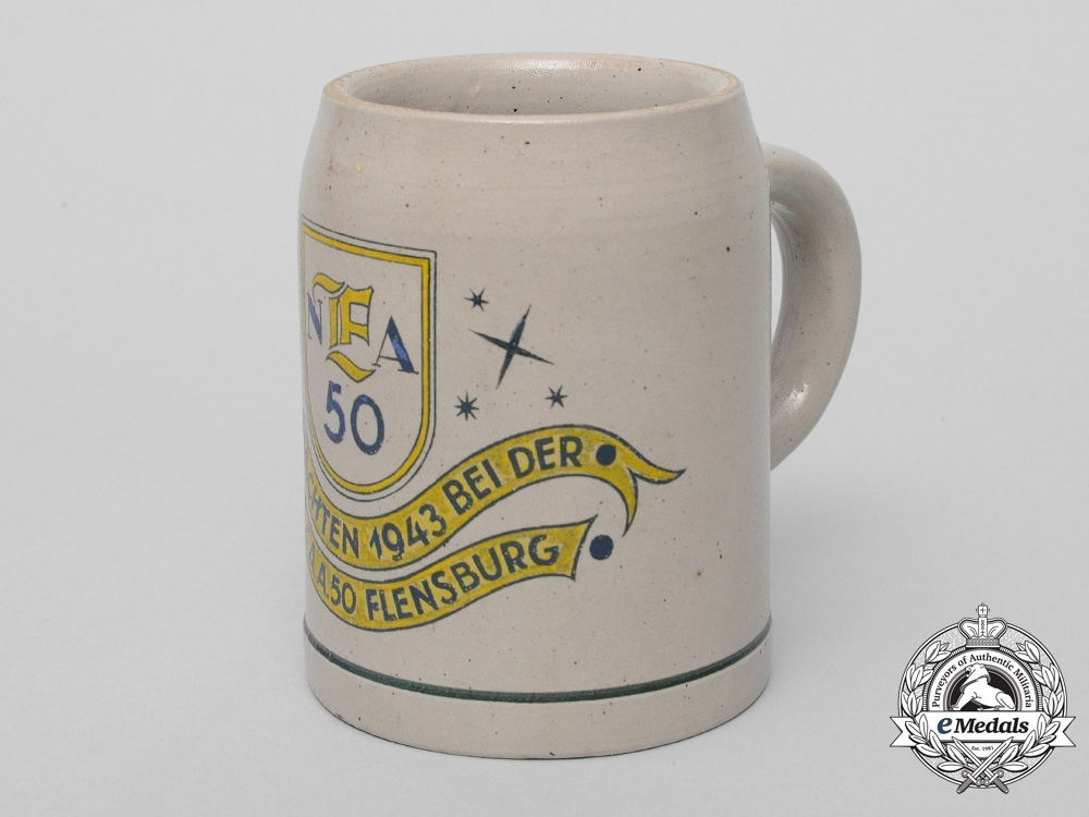 eMedals-A Flensburg 50th German Communications Division Christmas Beer Stein