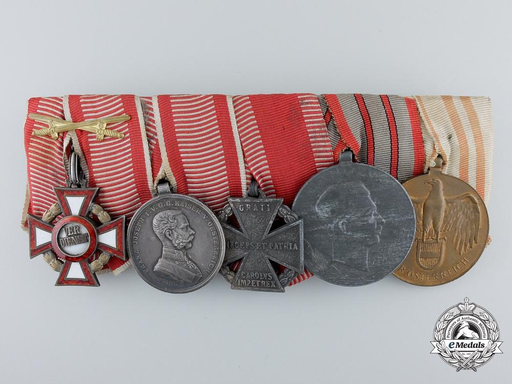 eMedals-A First War Austrian Military Merit Cross Grouping