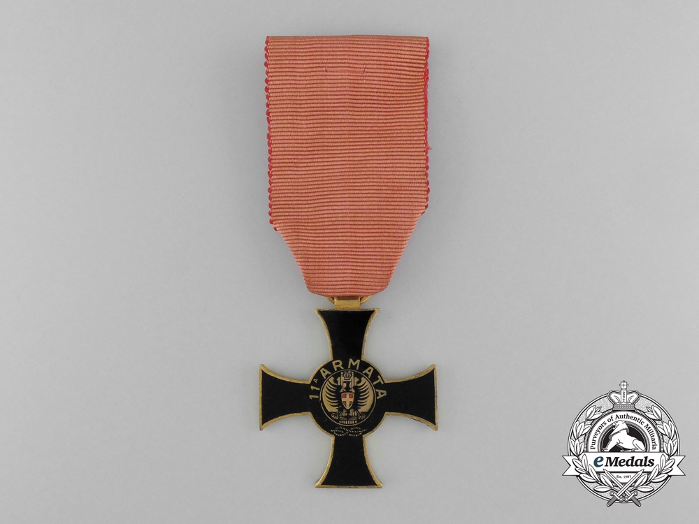 eMedals-Italy, Kingdom. An 11th Army Cross, by G.Mori