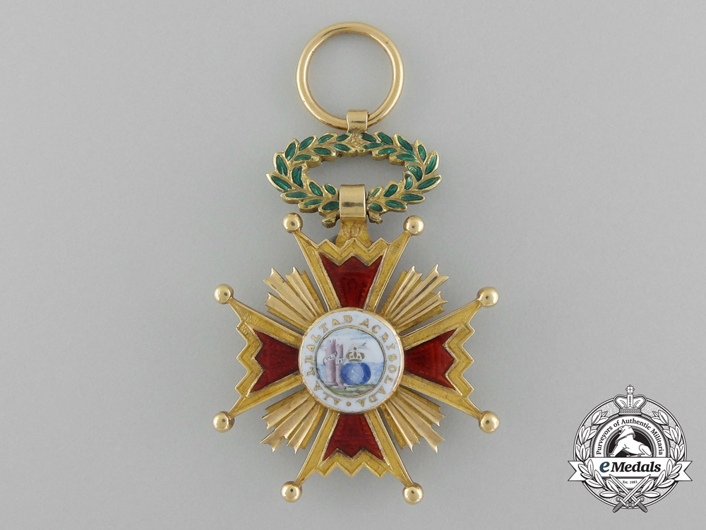 eMedals-A Fine Spanish Order of Isabella III in Gold