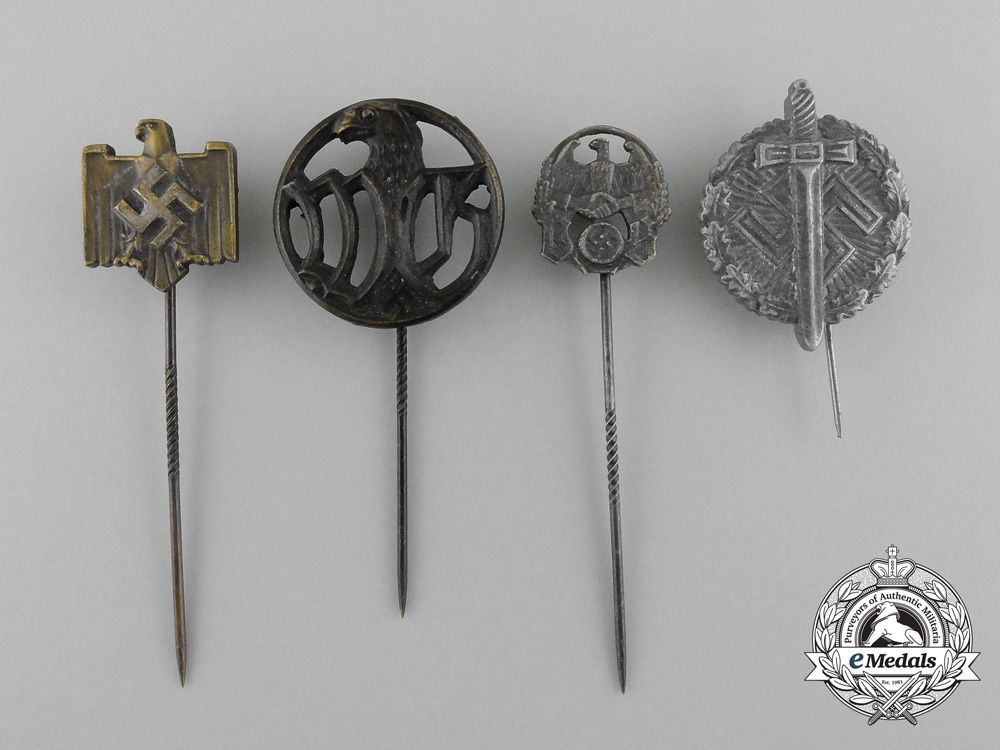 eMedals-A Lot of Four German Stick Pins