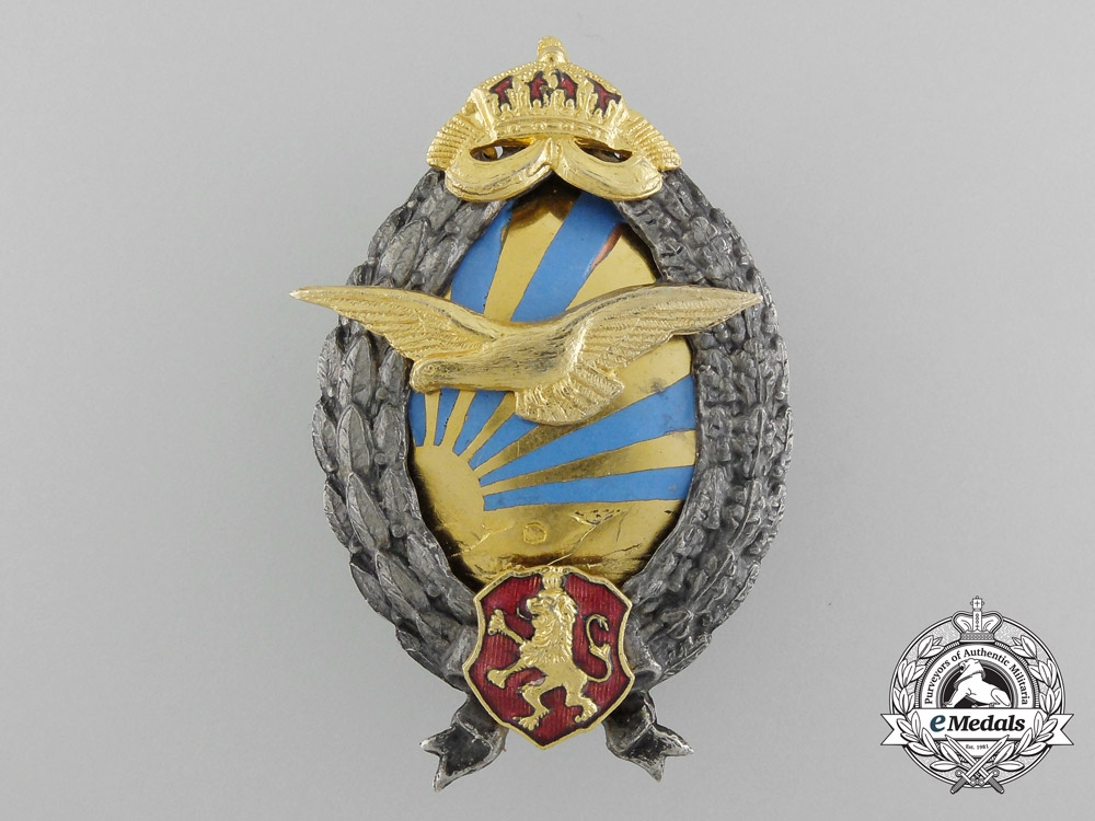 eMedals-Bulgaria, Kingdom. A Pilot's Badge, c.1940