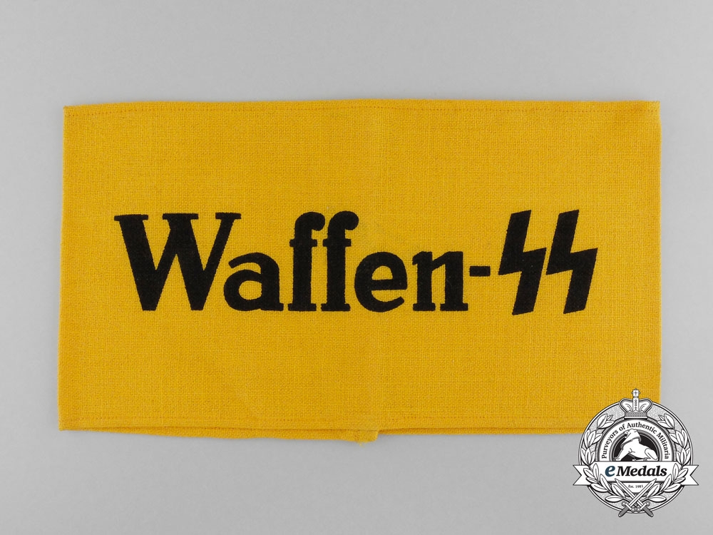 eMedals-A Mint and Unissued Waffen-SS Auxiliary Member's Armband