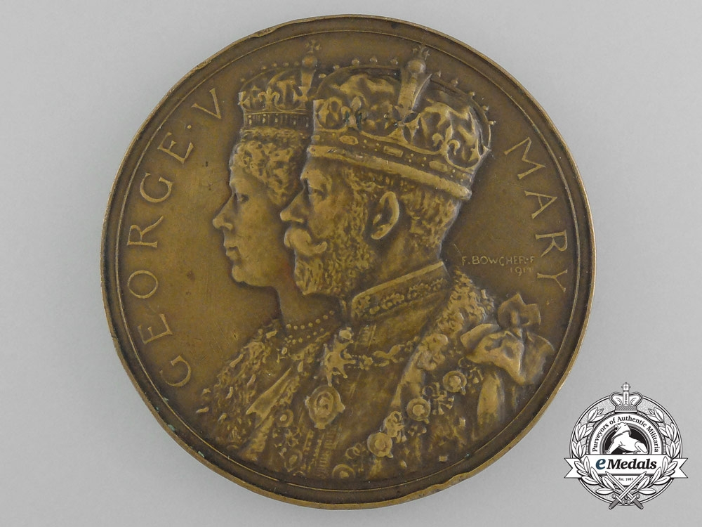 eMedals-A Large 1911 Medal for the Coronation of King George V and Queen Mary