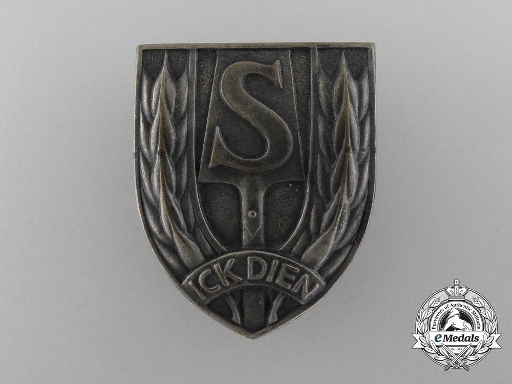 "eMedals-Netherlands. A Rare Breast Badge of the ""Nederlandse Arbeidsdienst (N.A.D.)"""