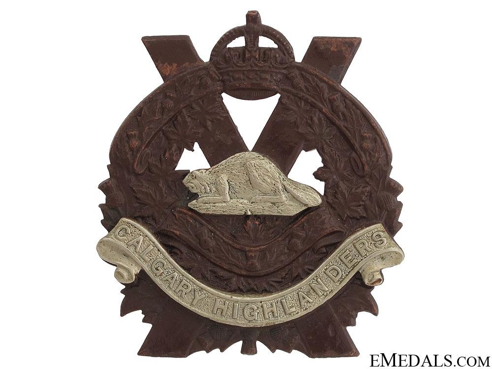 eMedals-Calgary Highlanders Officer's Cap Badge c.1910