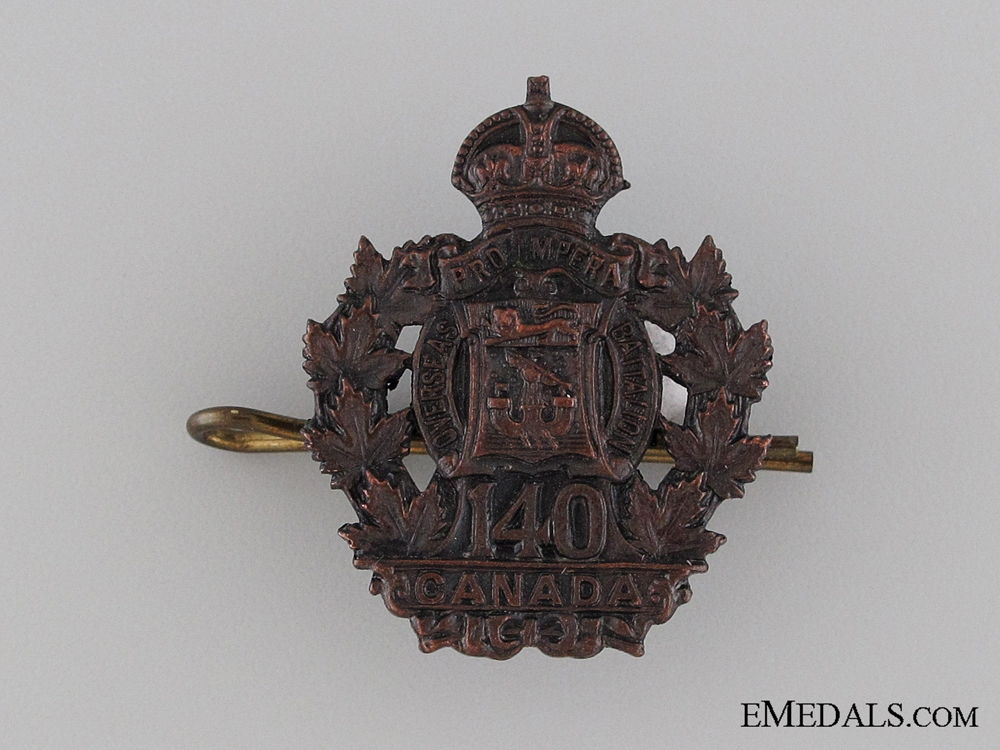 eMedals-Canada. WWI 140th Infantry Battalion Collar Tab CEF